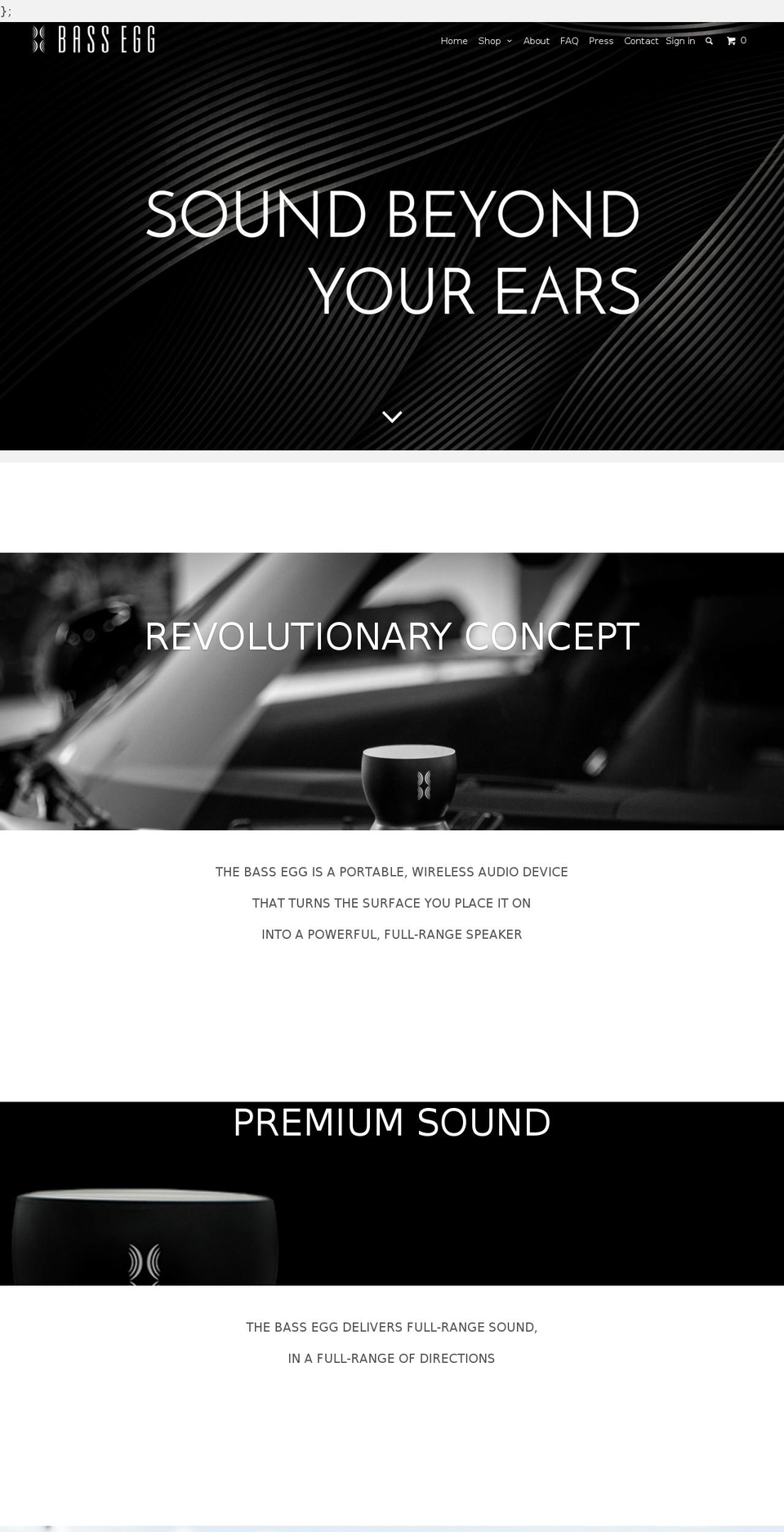 Bass Egg Parallax Shopify theme websites examples, download Bass ...