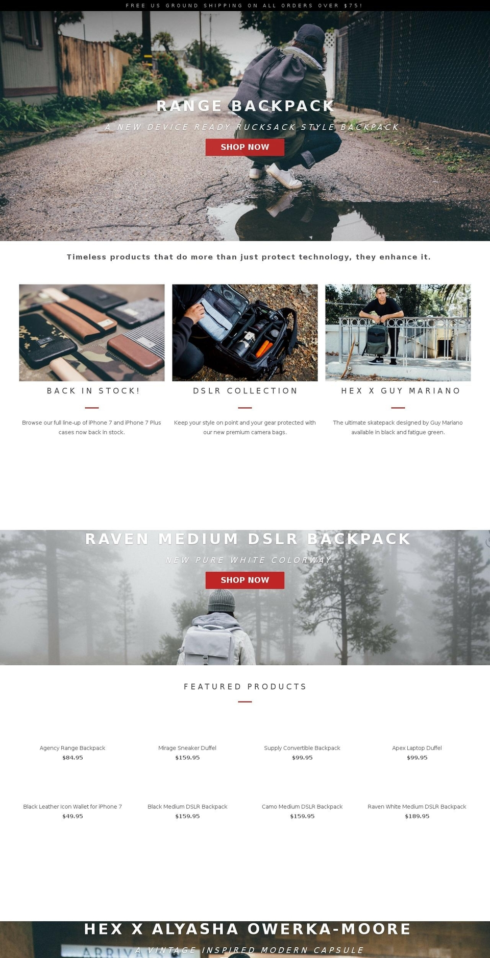 Parallax Shopify theme websites examples, download Parallax ...